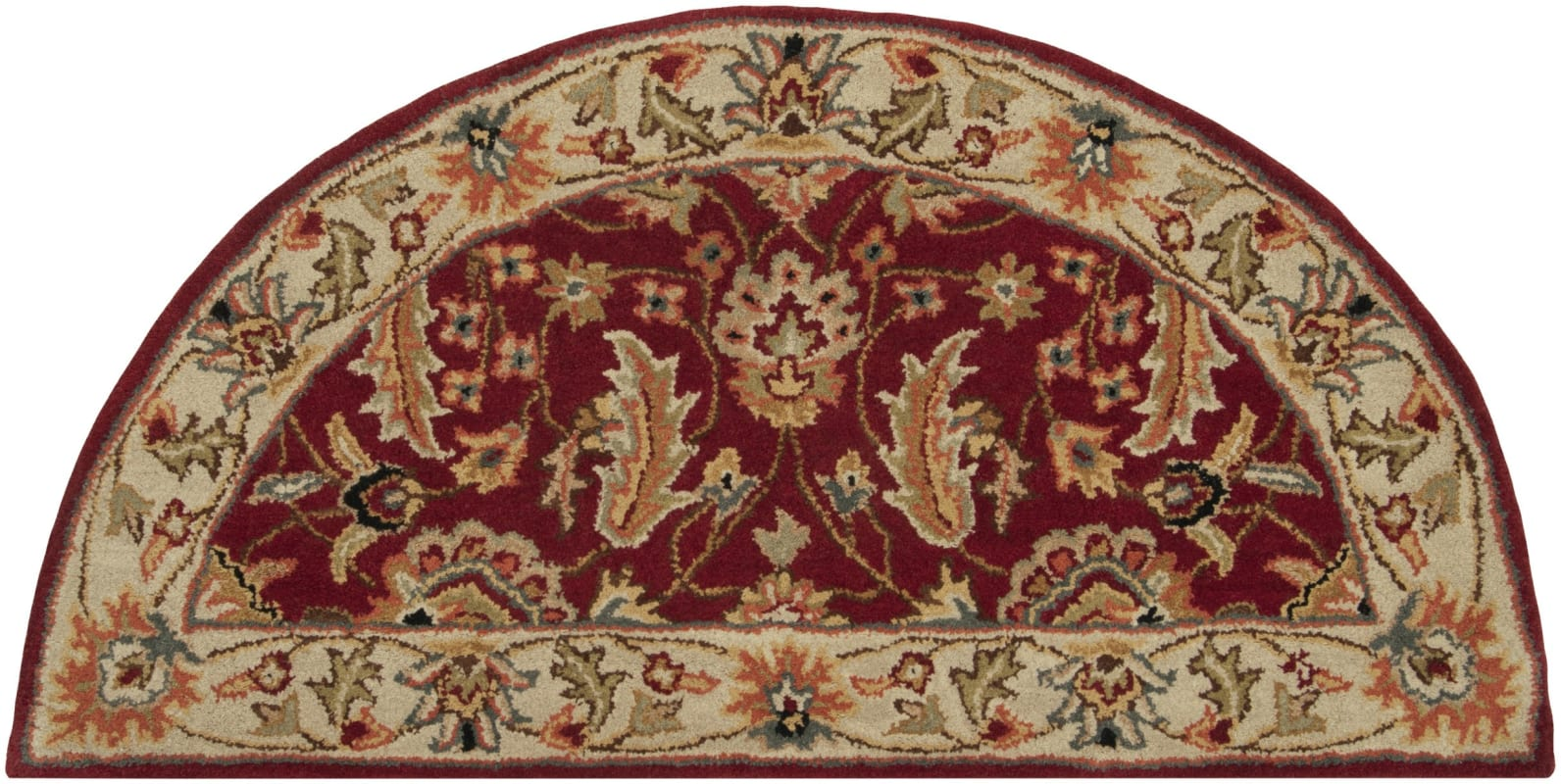 Surya CAE-1022 Caesar Hand Tufted Wool Rug Red 2 x 4 Hearth Home Decor