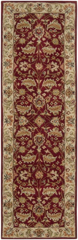 Surya CAE-1022 Caesar Hand Tufted Wool Rug Red 2 1/2 x 8 Home Decor