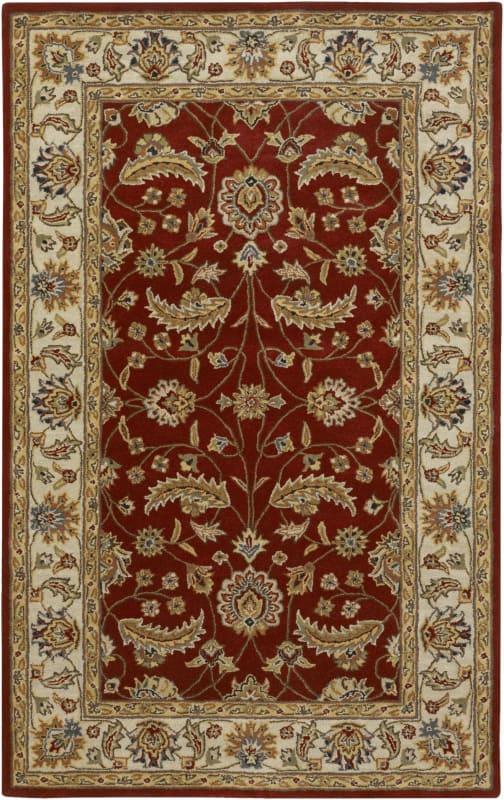 Surya CAE-1022 Caesar Hand Tufted Wool Rug Red 4 x 6 Home Decor Rugs