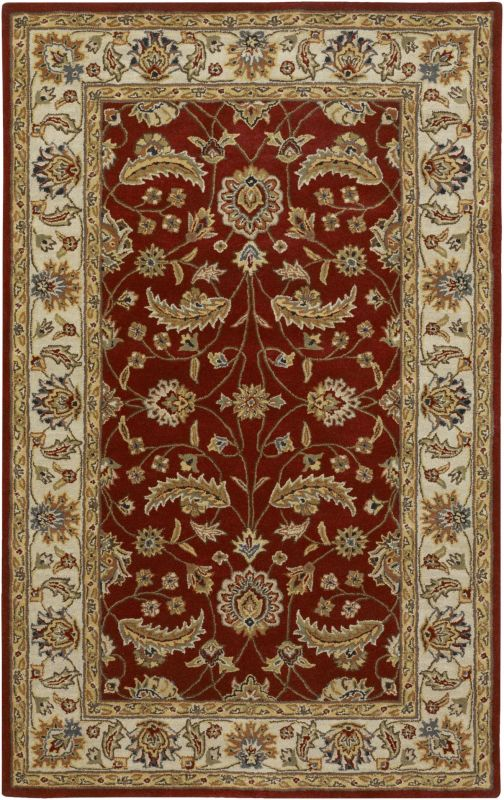 Surya CAE-1022 Caesar Hand Tufted Wool Rug Red 7 1/2 x 9 1/2 Home