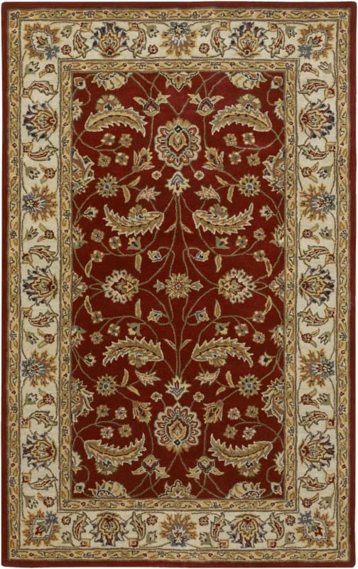 Surya CAE-1022 Caesar Hand Tufted Wool Rug Red 8 x 10 Oval Home Decor