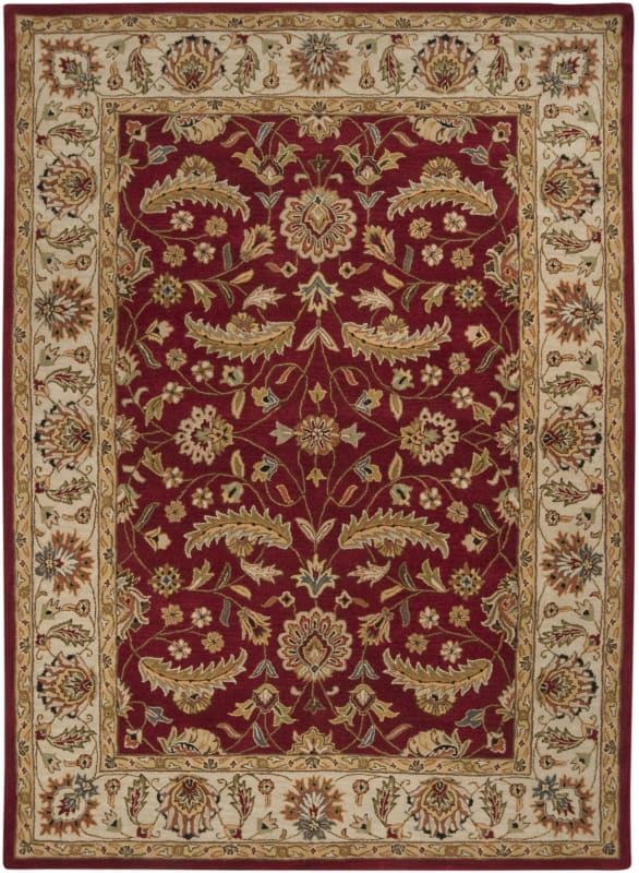 Surya CAE-1022 Caesar Hand Tufted Wool Rug Red 8 x 11 Home Decor Rugs
