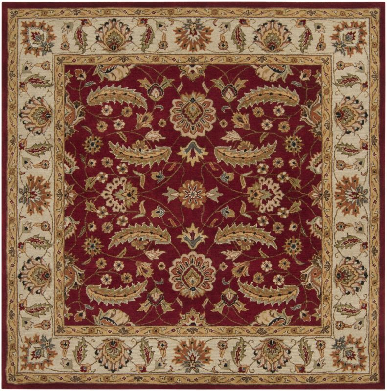 Surya CAE-1022 Caesar Hand Tufted Wool Rug Red 8 Square Home Decor