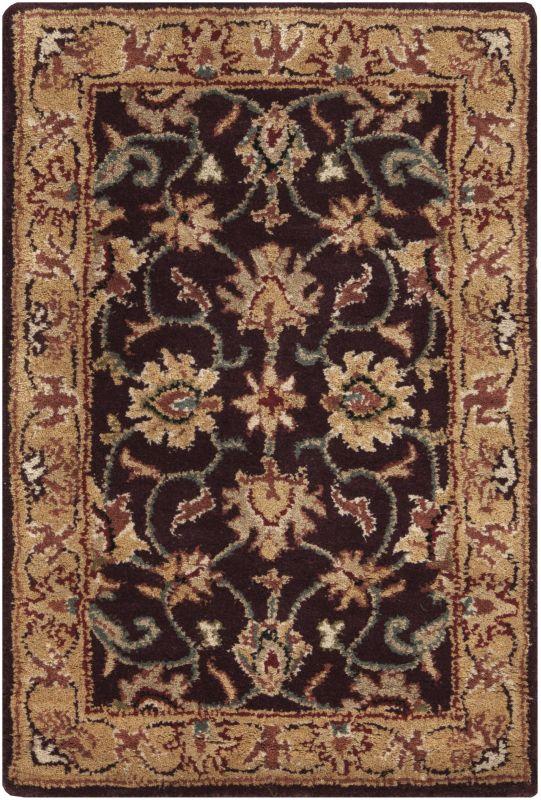 Surya CAE-1024 Caesar Hand Tufted Wool Rug Purple 2 x 3 Home Decor
