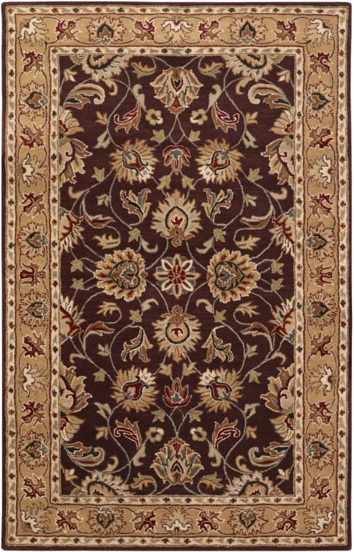 Surya CAE-1024 Caesar Hand Tufted Wool Rug Purple 3 x 12 Home Decor