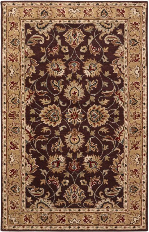 Surya CAE-1024 Caesar Hand Tufted Wool Rug Purple 4 x 6 Home Decor