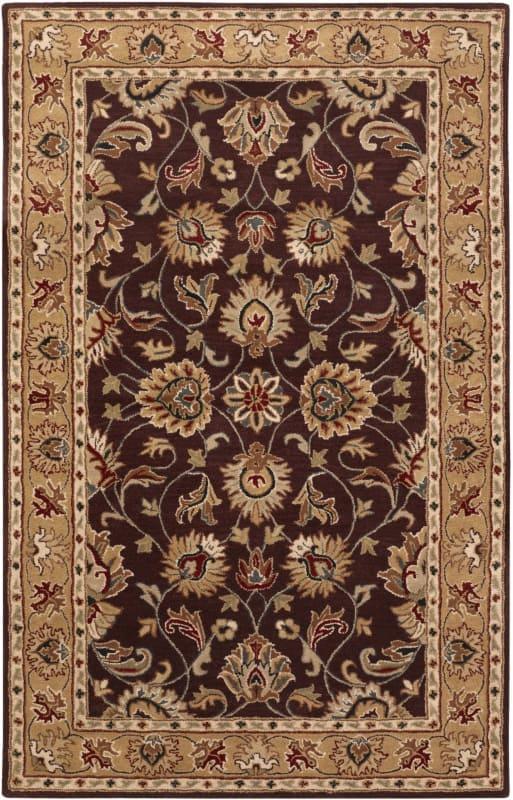 Surya CAE-1024 Caesar Hand Tufted Wool Rug Purple 6 x 9 Home Decor