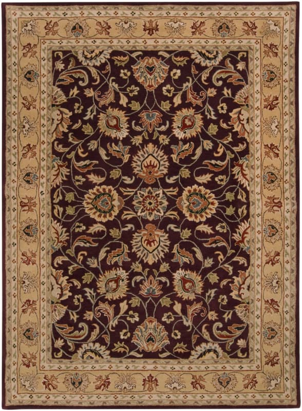 Surya CAE-1024 Caesar Hand Tufted Wool Rug Purple 8 x 11 Home Decor