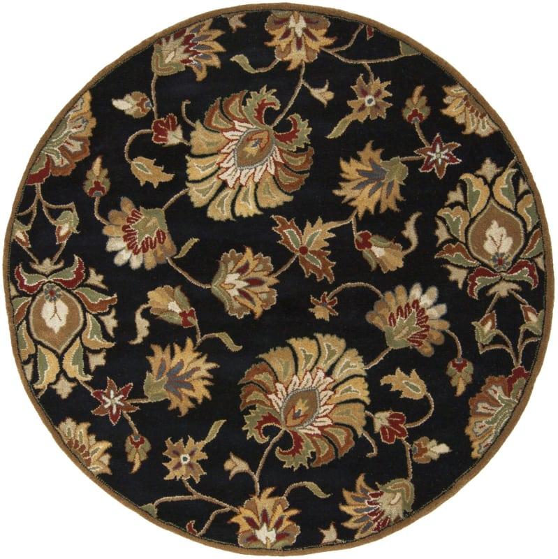 Surya CAE-1027 Caesar Hand Tufted Wool Rug Gray 4 Round Home Decor