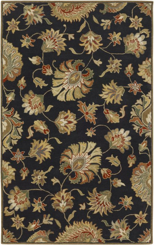 Surya CAE-1027 Caesar Hand Tufted Wool Rug Gray 5 x 8 Home Decor Rugs