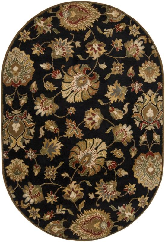 Surya CAE-1027 Caesar Hand Tufted Wool Rug Gray 6 x 9 Oval Home Decor
