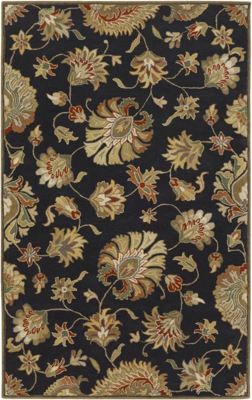 Surya CAE-1027 Caesar Hand Tufted Wool Rug Gray 7 1/2 x 9 1/2 Home