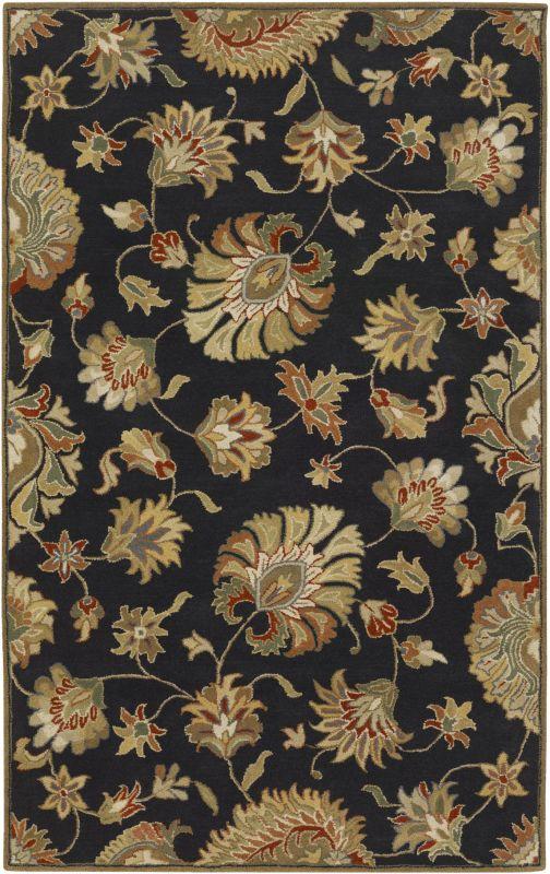 Surya CAE-1027 Caesar Hand Tufted Wool Rug Gray 8 x 10 Oval Home Decor