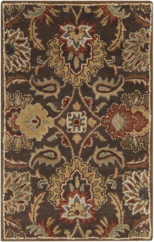 Surya CAE-1028 Caesar Hand Tufted Wool Rug Brown 2 x 3 Home Decor Rugs