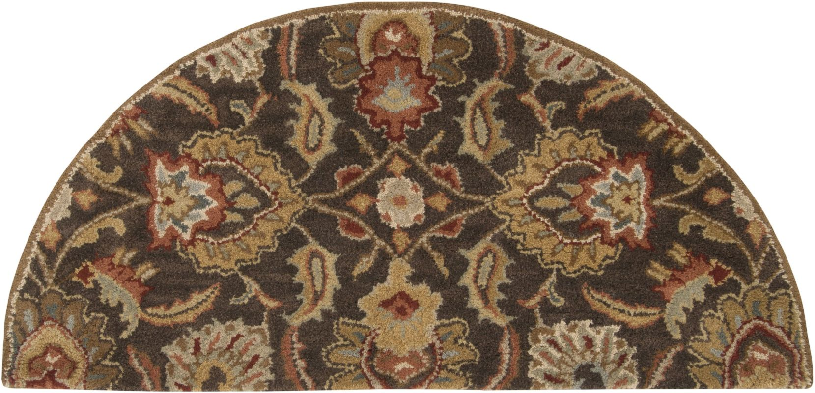 Surya CAE-1028 Caesar Hand Tufted Wool Rug Brown 2 x 4 Hearth Home