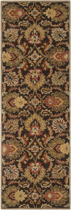 Surya CAE-1028 Caesar Hand Tufted Wool Rug Brown 2 1/2 x 8 Home Decor
