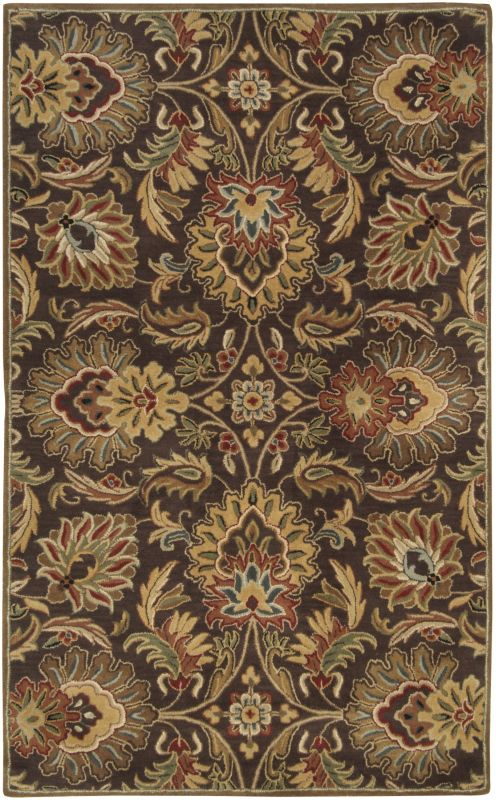 Surya CAE-1028 Caesar Hand Tufted Wool Rug Brown 5 x 8 Home Decor Rugs
