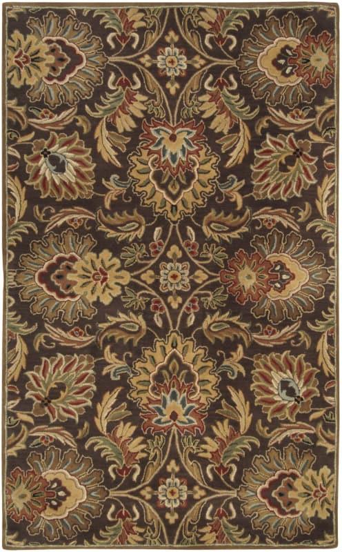 Surya CAE-1028 Caesar Hand Tufted Wool Rug Brown 7 1/2 x 9 1/2 Home