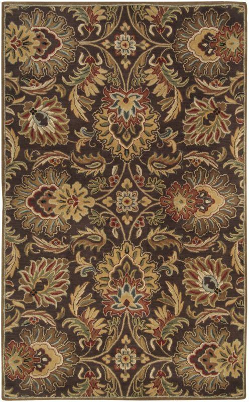Surya CAE-1028 Caesar Hand Tufted Wool Rug Brown 8 x 10 Oval Home