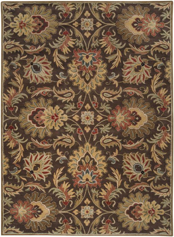 Surya CAE-1028 Caesar Hand Tufted Wool Rug Brown 8 x 11 Home Decor