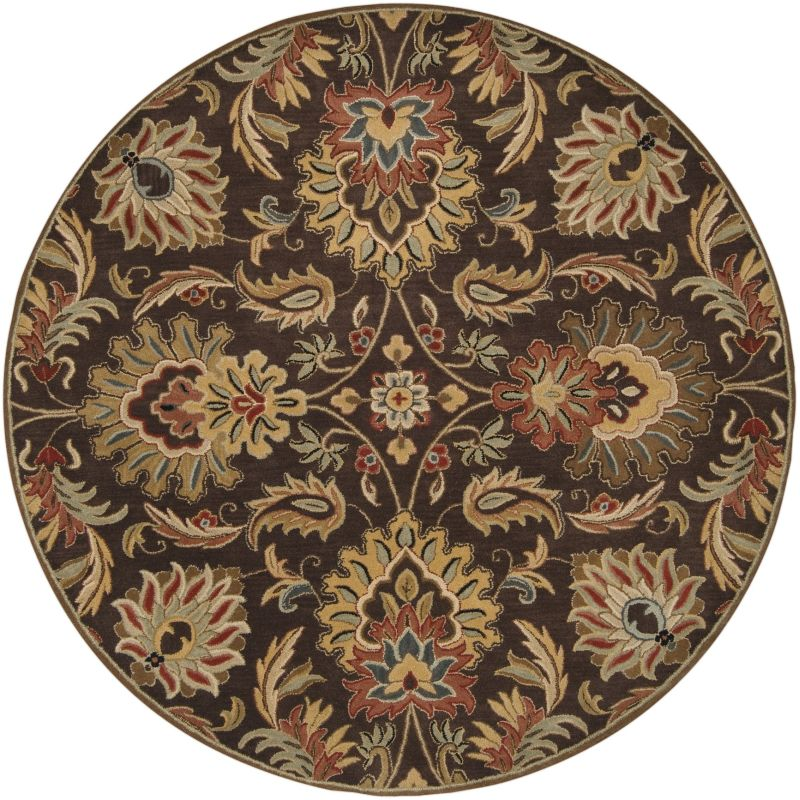 Surya CAE-1028 Caesar Hand Tufted Wool Rug Brown 8 Round Home Decor