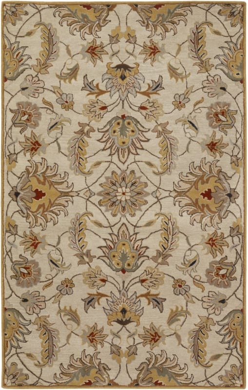 Surya CAE-1029 Caesar Hand Tufted Wool Rug Off-White 4 x 6 Home Decor