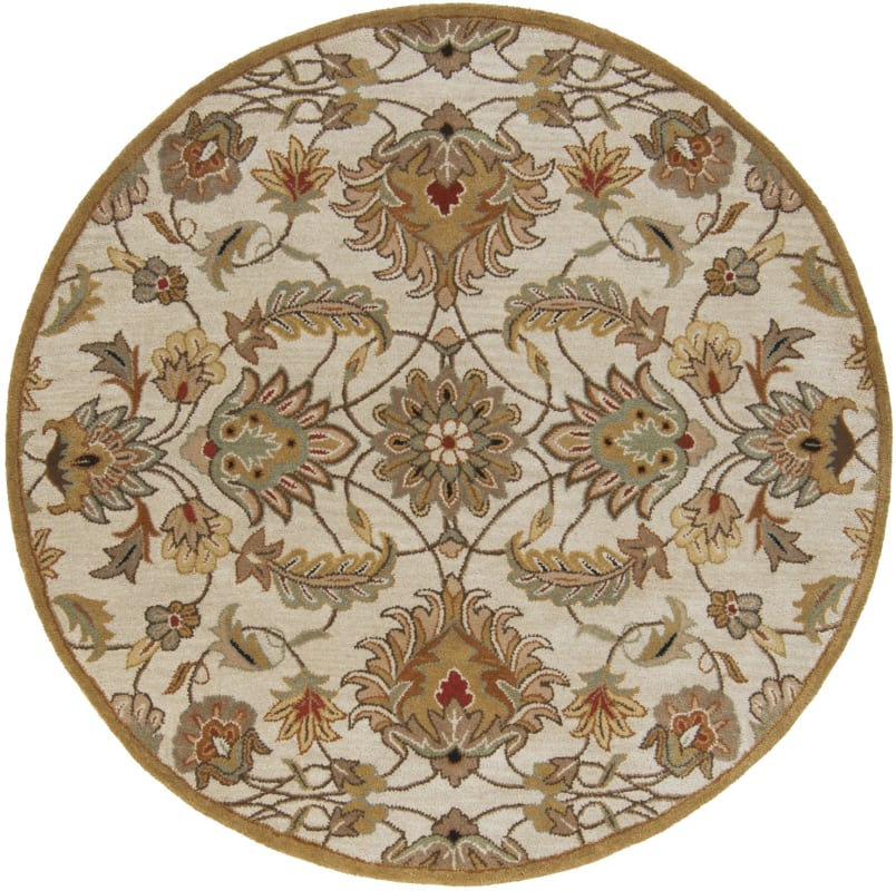 Surya CAE-1029 Caesar Hand Tufted Wool Rug Off-White 6 Round Home