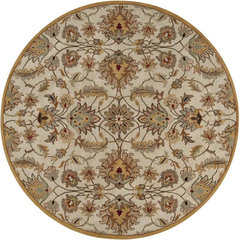 Surya CAE-1029 Caesar Hand Tufted Wool Rug Off-White 8 Round Home