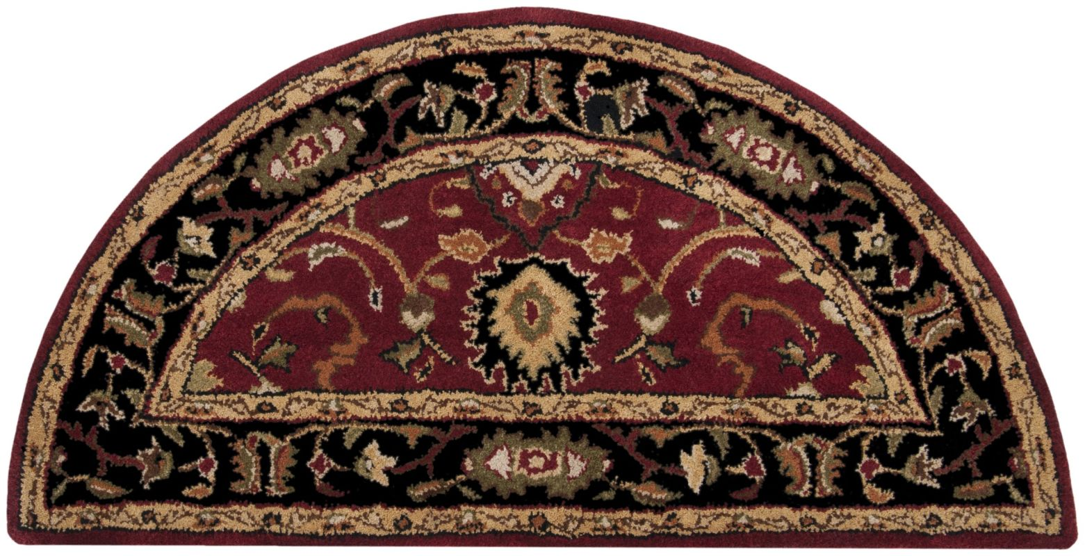 Surya CAE-1031 Caesar Hand Tufted Wool Rug Red 2 x 4 Hearth Home Decor