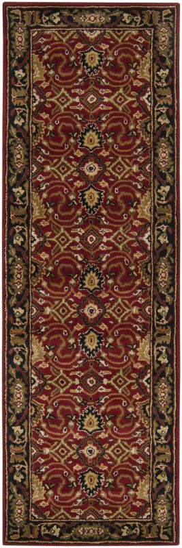 Surya CAE-1031 Caesar Hand Tufted Wool Rug Red 2 1/2 x 8 Home Decor