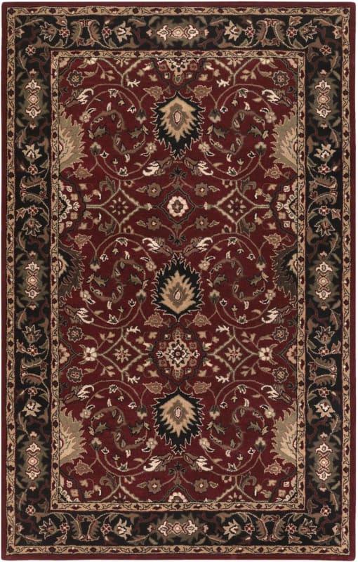 Surya CAE-1031 Caesar Hand Tufted Wool Rug Red 7 1/2 x 9 1/2 Home