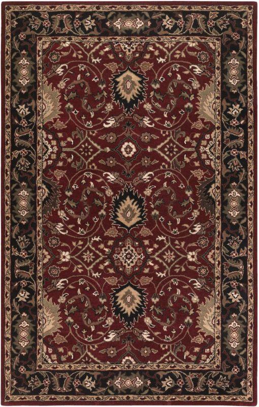 Surya CAE-1031 Caesar Hand Tufted Wool Rug Red 8 x 11 Home Decor Rugs