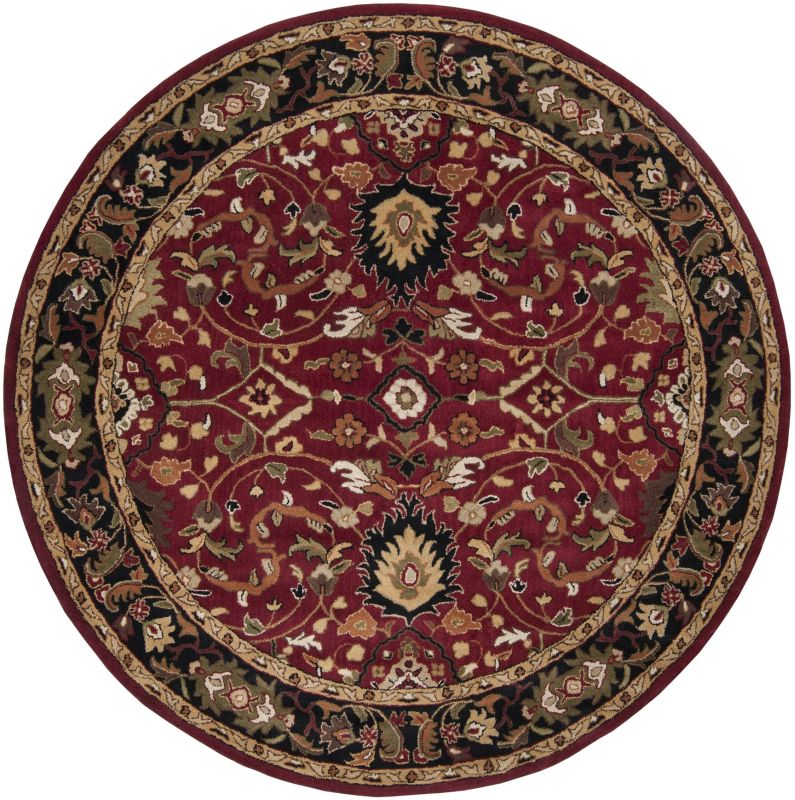 Surya CAE-1031 Caesar Hand Tufted Wool Rug Red 8 Round Home Decor Rugs