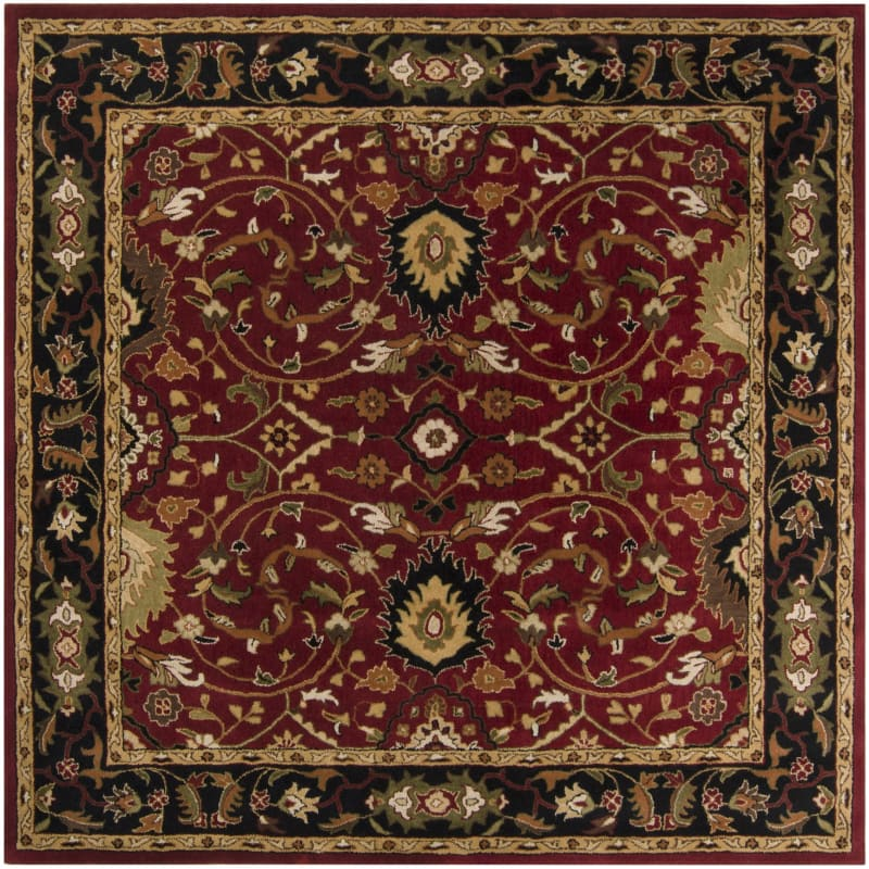 Surya CAE-1031 Caesar Hand Tufted Wool Rug Red 8 Square Home Decor