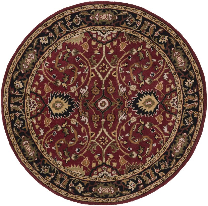 Surya CAE-1031 Caesar Hand Tufted Wool Rug Red 10 Round Home Decor