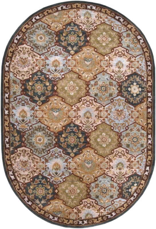 Surya CAE-1032 Caesar Hand Tufted Wool Rug Gray 6 x 9 Oval Home Decor