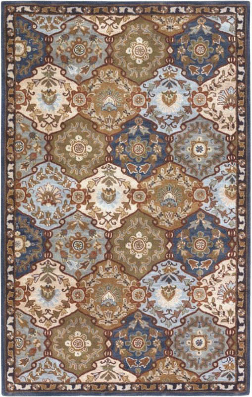 Surya CAE-1032 Caesar Hand Tufted Wool Rug Gray 8 x 10 Oval Home Decor