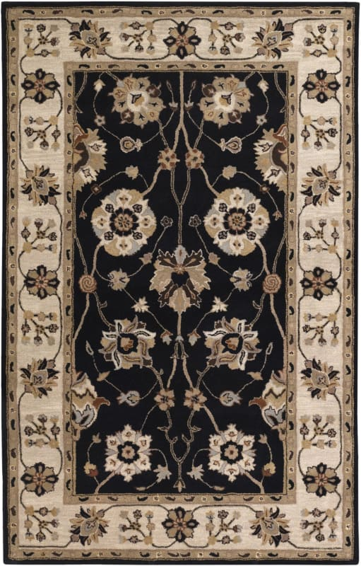 Surya CAE-1033 Caesar Hand Tufted Wool Rug Gray 4 x 6 Home Decor Rugs