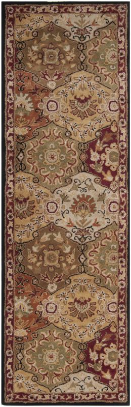 Surya CAE-1034 Caesar Hand Tufted Wool Rug Red 2 1/2 x 8 Home Decor