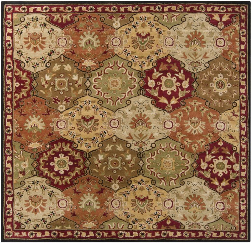 Surya CAE-1034 Caesar Hand Tufted Wool Rug Red 8 Square Home Decor