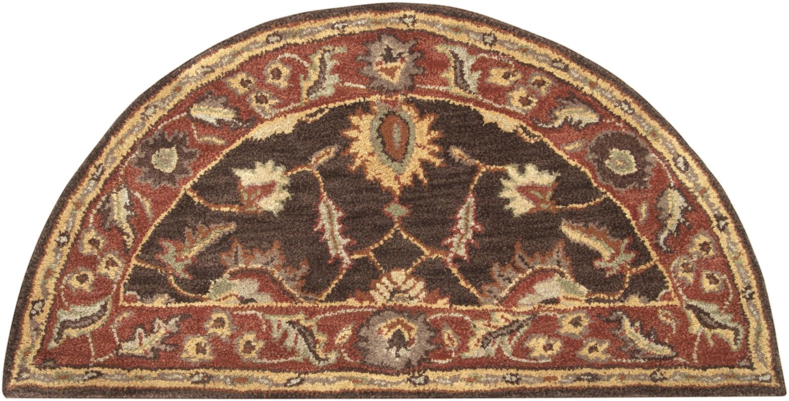 Surya CAE-1036 Caesar Hand Tufted Wool Rug Brown 2 x 4 Hearth Home