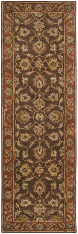 Surya CAE-1036 Caesar Hand Tufted Wool Rug Brown 2 1/2 x 8 Home Decor