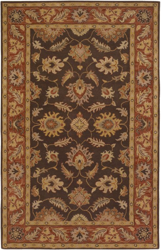 Surya CAE-1036 Caesar Hand Tufted Wool Rug Brown 6 x 9 Home Decor Rugs