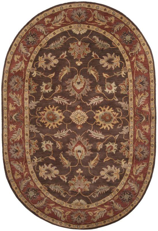 Surya CAE-1036 Caesar Hand Tufted Wool Rug Brown 6 x 9 Oval Home Decor
