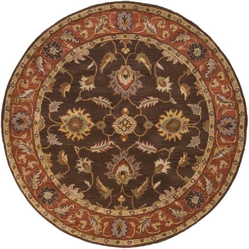 Surya CAE-1036 Caesar Hand Tufted Wool Rug Brown 6 Round Home Decor