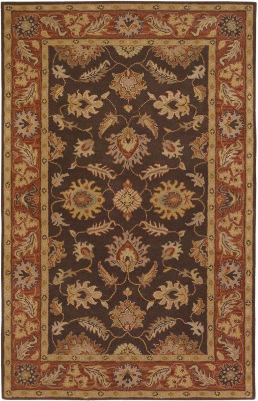 Surya CAE-1036 Caesar Hand Tufted Wool Rug Brown 8 x 10 Oval Home
