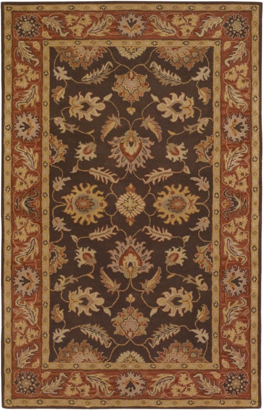 Surya CAE-1036 Caesar Hand Tufted Wool Rug Brown 8 x 11 Home Decor