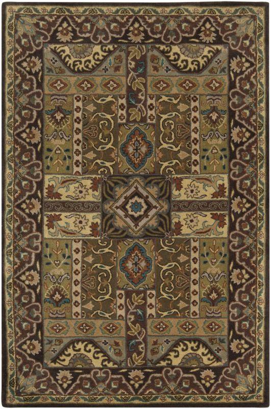 Surya CAE-1048 Caesar Hand Tufted Wool Rug Green 10 x 14 Home Decor