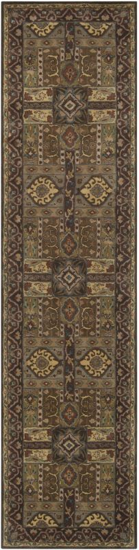 Surya CAE-1048 Caesar Hand Tufted Wool Rug Green 3 x 12 Home Decor