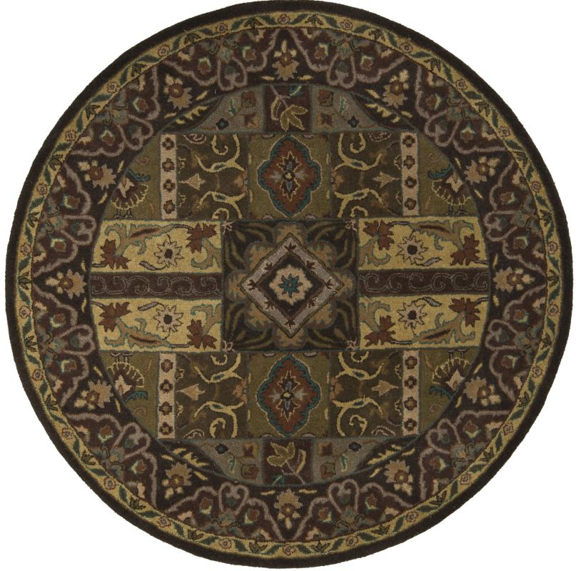 Surya CAE-1048 Caesar Hand Tufted Wool Rug Green 4 Round Home Decor